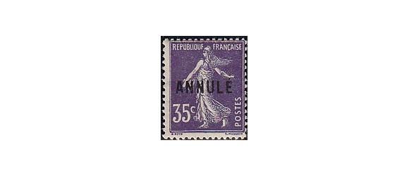 France - n°142 - CI-2 - Annulé - 35c Semeuse.