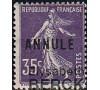 France - n° 142 - CI/2 - Annulé - 35c Semeuse.