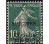 France - n°159 - CI-3 - Spécimen - Semeuse 10c vert.