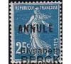 France - n°140a - CI-2 -Annulé - Semeuse 25c.