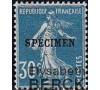 France - n°192- CI-1 - Spécimen - Semeuse 30c bleu.