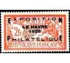 257A - Exposition le Havre de 1929 -  surcharge sur le 2f Merson