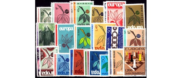 Europa - 1965 - 19 pays - 35 timbres.