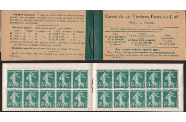 http://www.philatelie-berck.com/1288-thickbox/france-carnet-n137-c9-5c-semeuse-1919.jpg
