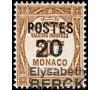 """Monaco - n° 143a - Variété - """" Surcharge 0 plus petit """"."""