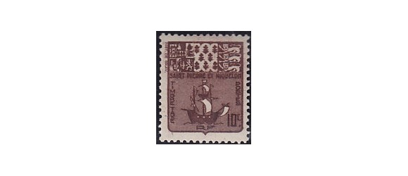 Saint-Pierre et Miquelon - Taxe n° 73 - Variété 10c.