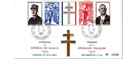 France - Général de Gaulle - Croix de Lorraine en Or