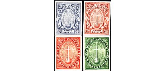 Vatican - n°  30/33 - Année Sainte de 1933 en Non dentelé - RARE. Cote Sassone 14 000€.
