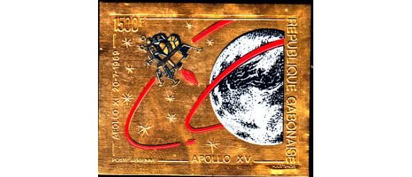Gabon - n°PA 120 - Apollo XI - Timbre Or - non dentelé