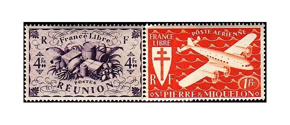 Série Coloniale - 1941-1945 France Libre - 287 valeurs.