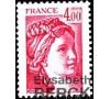 France - n°2122a - 4f Sabine sans phosphore.