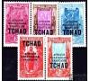 Tchad - n°  53/55 - Série de 1922 surchargée.