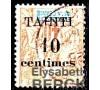Tahiti - n° 32a - 10c/40c rouge-orange - Surcharge renversée.