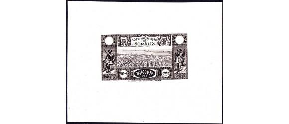 Cote des Somalis - n° 167.. Epreuve noire - Type 1.