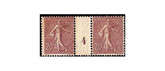 France - n° 131 - 20c Semeuse - Millésime 4.