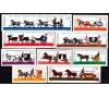 Pologne - n°1495/1503 - Anciens véhicules à chevaux.
