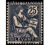 Levant - n° 24 - Mouchon - 25c bleu.