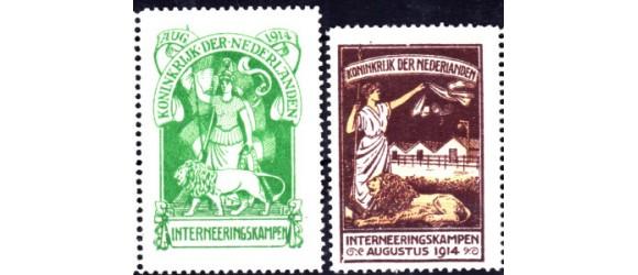PAYS-BAS - n°F.M. 1/2 - Timbre de Franchise de 1916 - Camps d'internement.