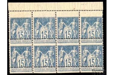 http://www.philatelie-berck.com/4734-thickbox/france-n-101-type-sage-15c-bleu-bloc-de-8-exceptionnel.jpg