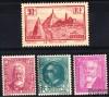 France - n° 290/293 - Année 1933 - 4 valeurs.