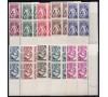 Monaco - n° 215/224 - 1941 - Coins datés.