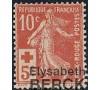 France - n°147 - Croix-rouge - Semeuse 10c+5c rouge