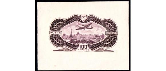 France - n°PA 15  - Epreuve du 100 F Burelé  non émis - Sans burelage.