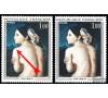 """France - n°1530 - Ingres - """"Profil et épaule bleus""""."""