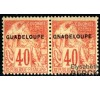 "Guadeloupe - n° 24+24A - ""Gnadeloupe"" - Paire se tenant."