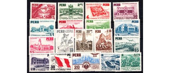 """Pérou - n°417/425 + PA87/95 - """"Sans Surcharge"""" - VIe Congrès de l'Union Postale."""