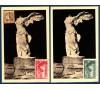 France - n° 354/355 - Samothrace sur carte du musée du Louvre.
