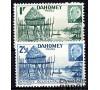 Dahomey - n° 149/150 - Village lacustre et Maréchal Pétain en médaillon.