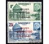 Dahomey - n° 153/154 - Village lacustre et Maréchal Pétain en médaillon.
