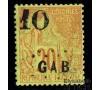 Gabon - n°  2 - Alphée Dubois - 10c sur 20c vert.