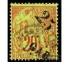 Gabon - n°  3 - Alphée Dubois - 25c sur 20c vert