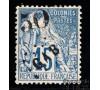 Gabon - n°  4 - Alphée Dubois - 50c sur 15c bleu.
