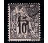 Gabon - n°  6 - Alphée Dubois - 15c sur 10c  noir.