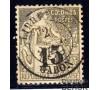 Gabon - n°  7 - Alphée Dubois - 15c sur 1F olive.