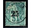 Gabon - n°  8 - Alphée Dubois - 25c sur 5c vert.