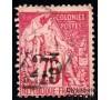 Gabon - n° 10 - Alphée Dubois - 25c sur 75c rose.