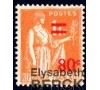 France - n° 359 - Type Paix - 80c sur 1F orange.