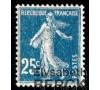 France - n° 140 - Semeuse 25c bleu fond plein.