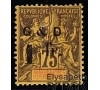 Guadeloupe - n°  49d.s - Type Sage 1F/75c violet-jaune.