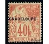 """Guadeloupe - n°  24A - 40c orange surchargé """"GNADELOUPE""""."""