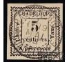 Guadeloupe - Taxe n°  6 - 5c blanc - Variété.