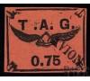 Guyane - n°PA  3 - 75c noir et saumon - Casque Ailé.