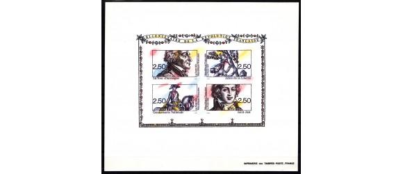 France - n°2703/2706 - BF13 - Bicentenaire de la révolution.