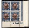 ISLANDE -  PA n° 10 - ZEPPELIN 1931 en bloc de 4 coin de feuille NUMEROTE du 2k brun - Très beau.