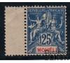 Mohéli - n° 7 -  Type blanc - 25c bleu.