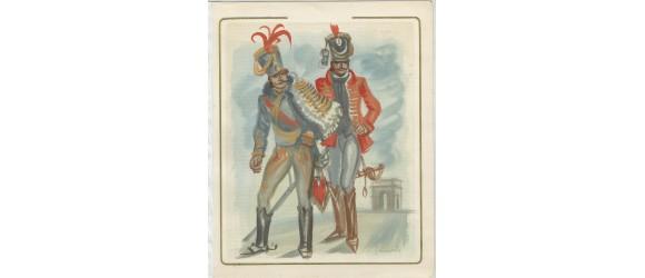 France - n° 896 - Grenadiers de NAPOLEON 1er - Aquarelle de DECARIS  - Pièce UNIQUE
